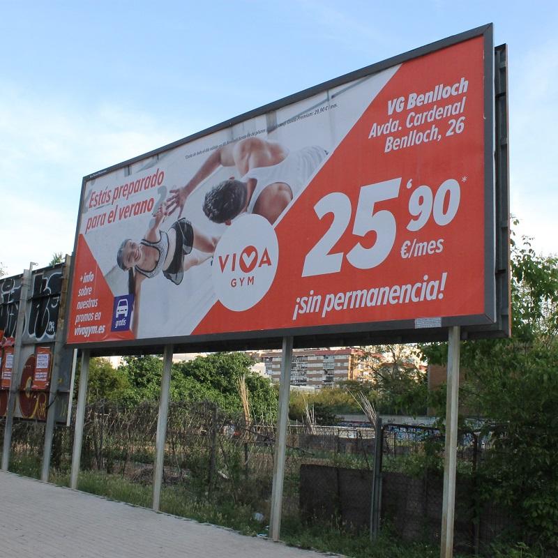 Impresión publicidad exterior vallas